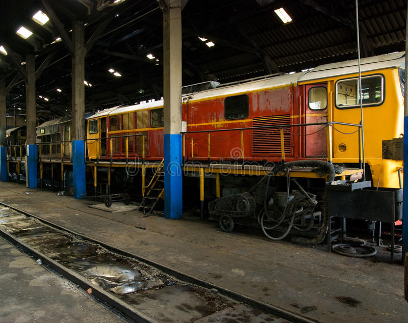Download Train workshop stock photo. Image of electric, yellow - 11032362