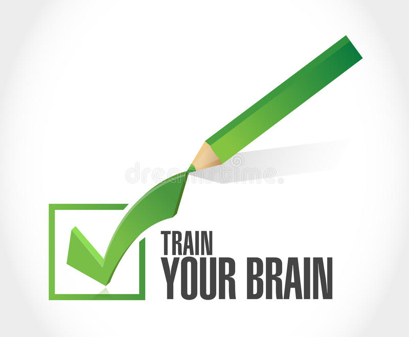 train your brain check list sign concept royalty free illustration