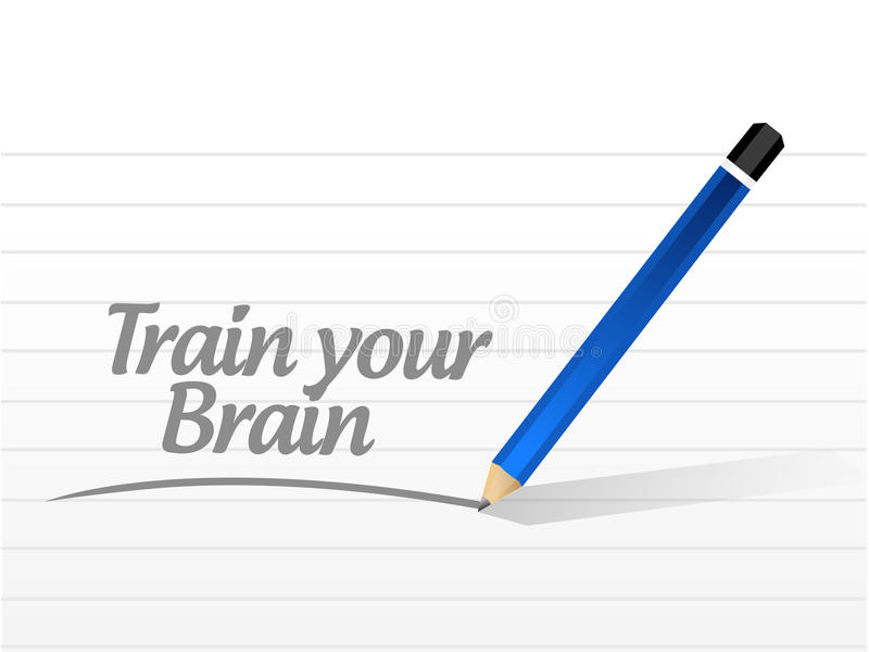 train your brain message sign concept illustration royalty free illustration
