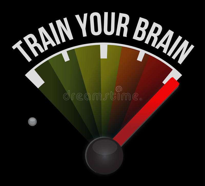 train your brain street sign concept royalty free illustration