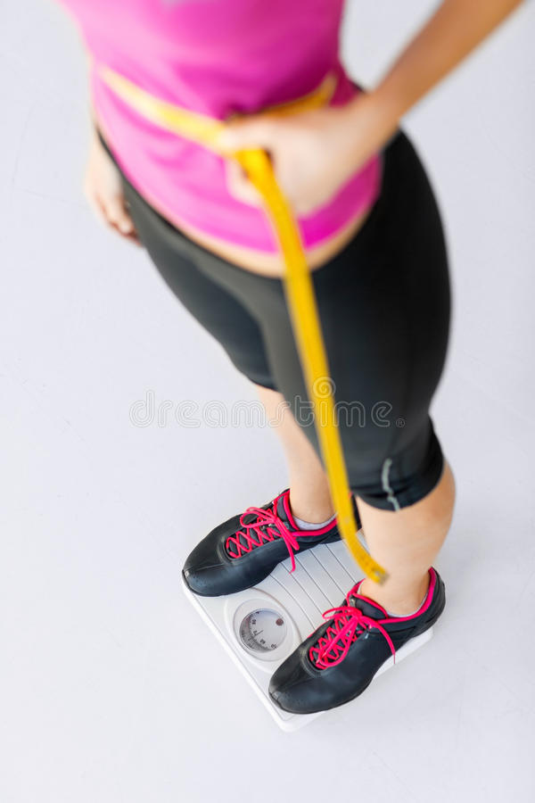 Download Trained Belly With Measuring Tape Stock Image - Image: 33188239