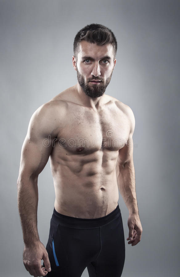Males body (torso) stock image. Image of pack, shirtless