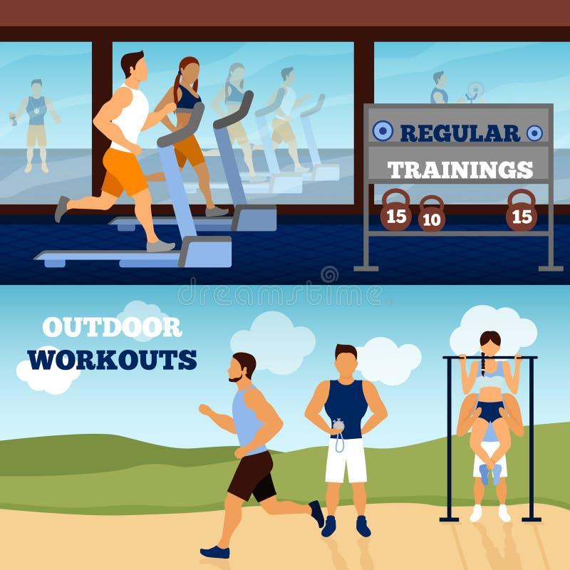 Trainer Banner Set stock illustratie