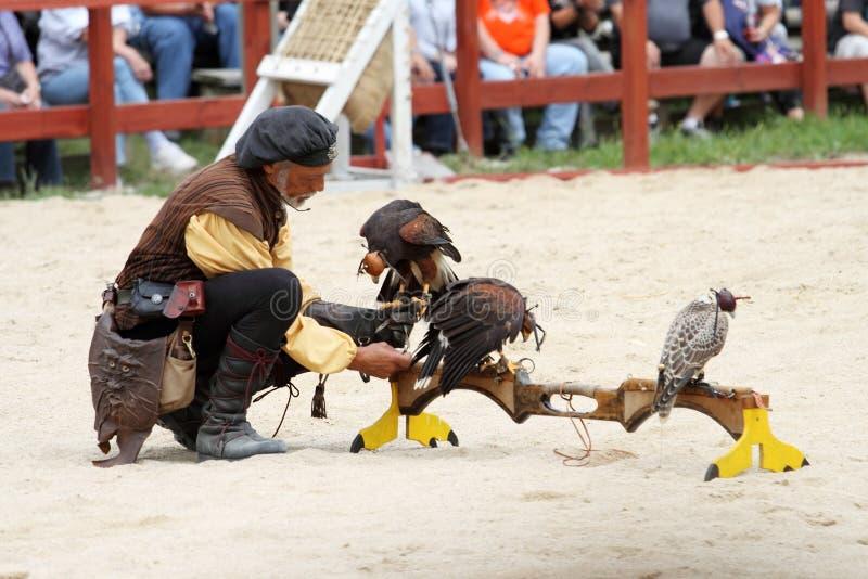 Download Trainer Demonstrates Hawks Abilitiesenai Editorial Stock Image - Image: 17396829