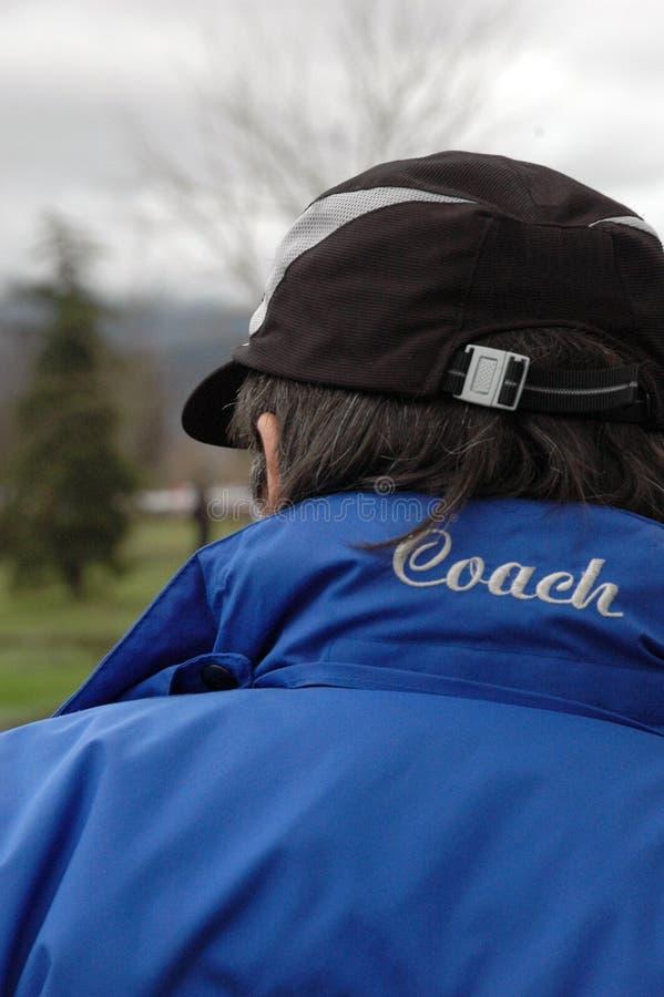 Trainer im Dienst stockfoto