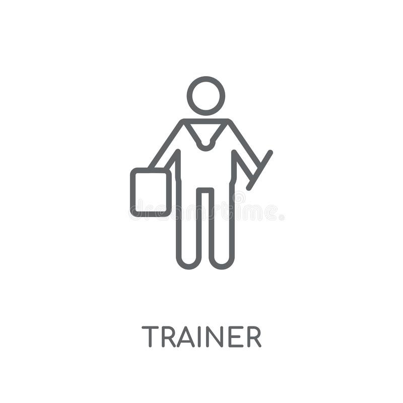 Trainer linear icon. Modern outline Trainer logo concept on whit vector illustration