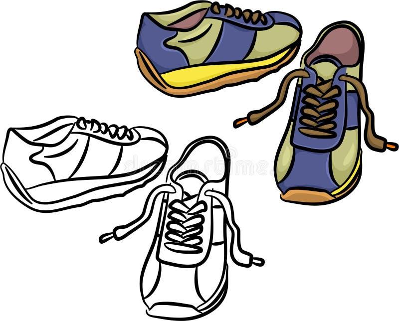 Download Trainers stock vector. Image of footwear, sneeker, shoes - 711253