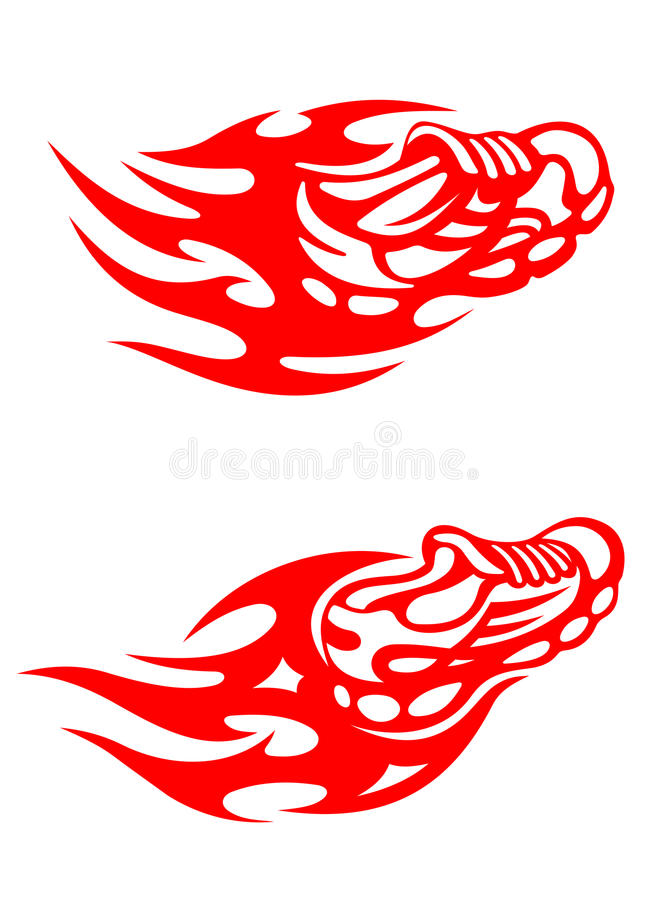 Download Trainers with flames stock vector. Image of clothing - 25920858