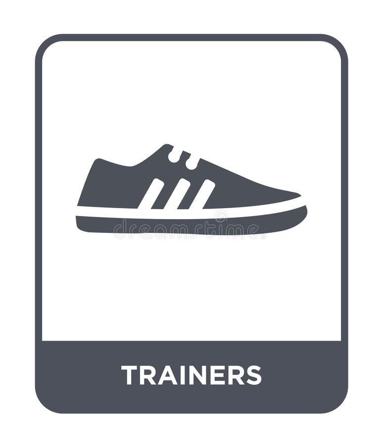Trainers icon in trendy design style. trainers icon isolated on white background. trainers vector icon simple and modern flat. Symbol for web site, mobile, logo stock illustration