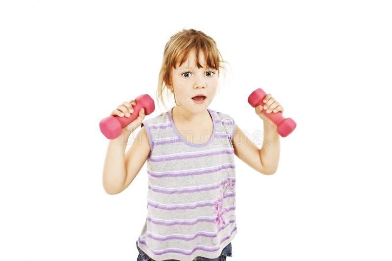 Trainieren des weiblichen Kindes stockbild