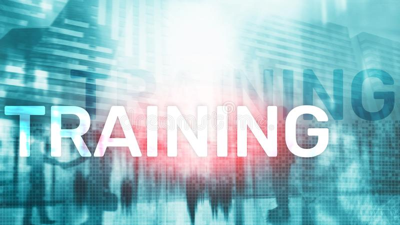 training ανάπτυξη προσωπική Επιχείρηση και εκπαίδευση, έννοια ε-εκμάθησης διανυσματική απεικόνιση