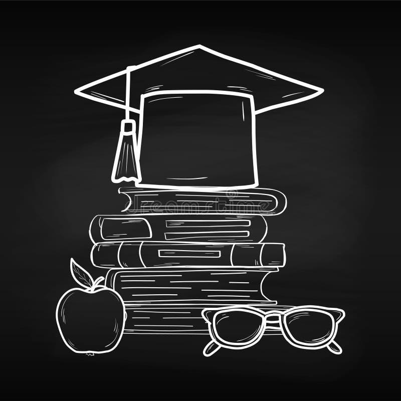training Ημέρα παγκόσμιων βιβλίων apse Γνώση ανάγνωση Κόσμος σχεδιάστε το σας φύλλο Πίνακας κιμωλίας σχολείο ελεύθερη απεικόνιση δικαιώματος