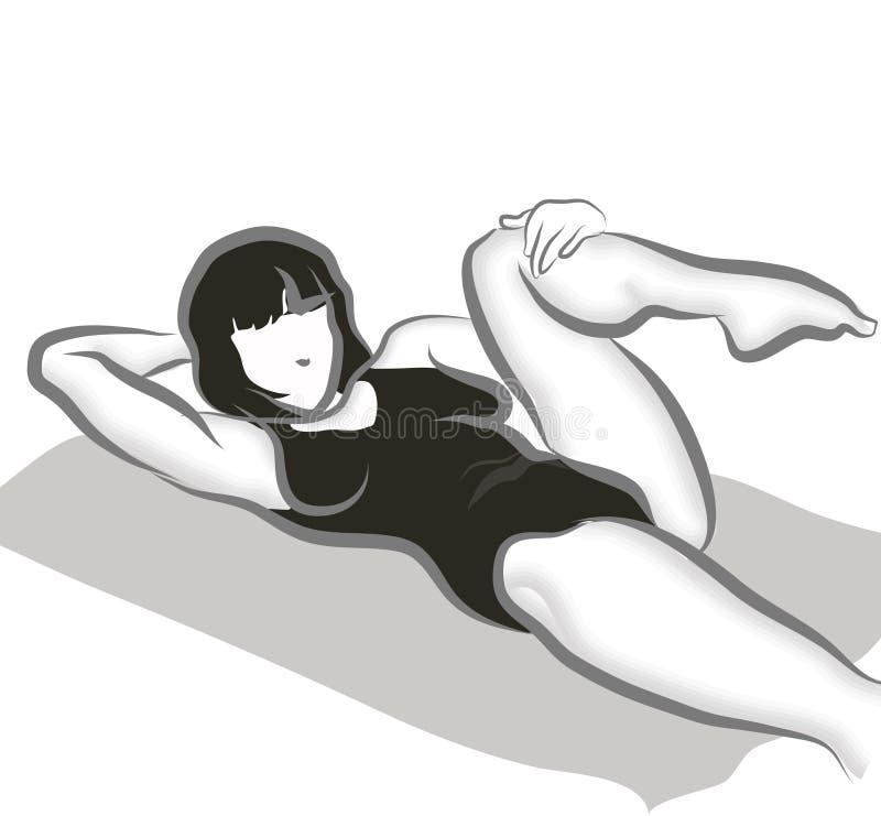 Training vector illustratie