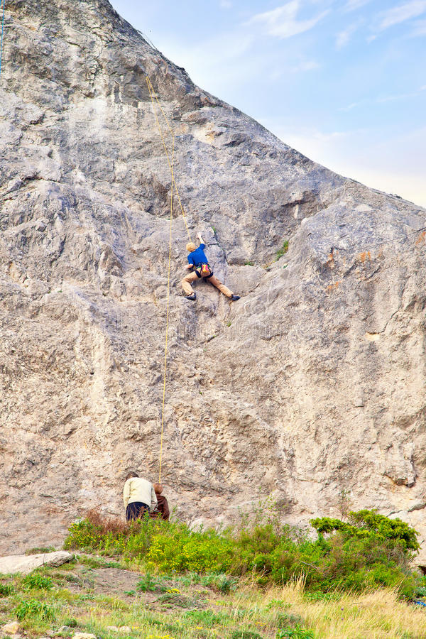 Download Training of alpinist stock photo. Image of rock, employment - 39510544