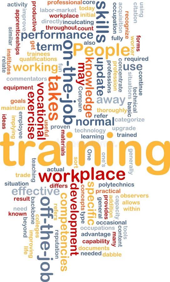 Training background concept vector illustration