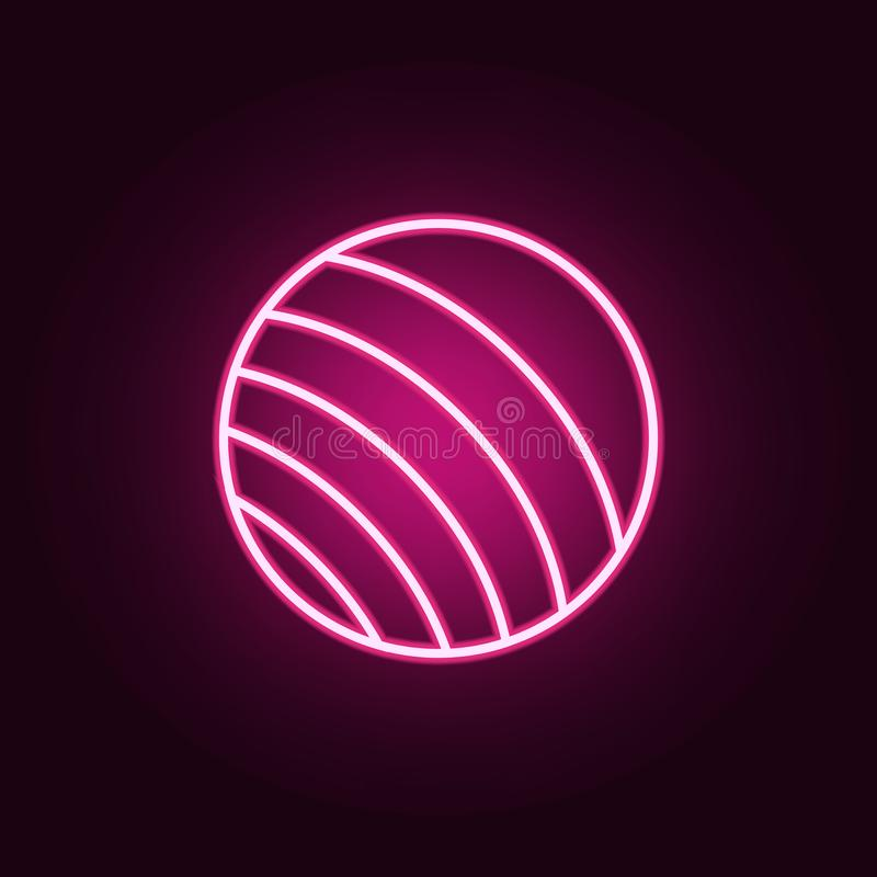 training ball neon icon. Elements of web set. Simple icon for websites, web design, mobile app, info graphics royalty free illustration