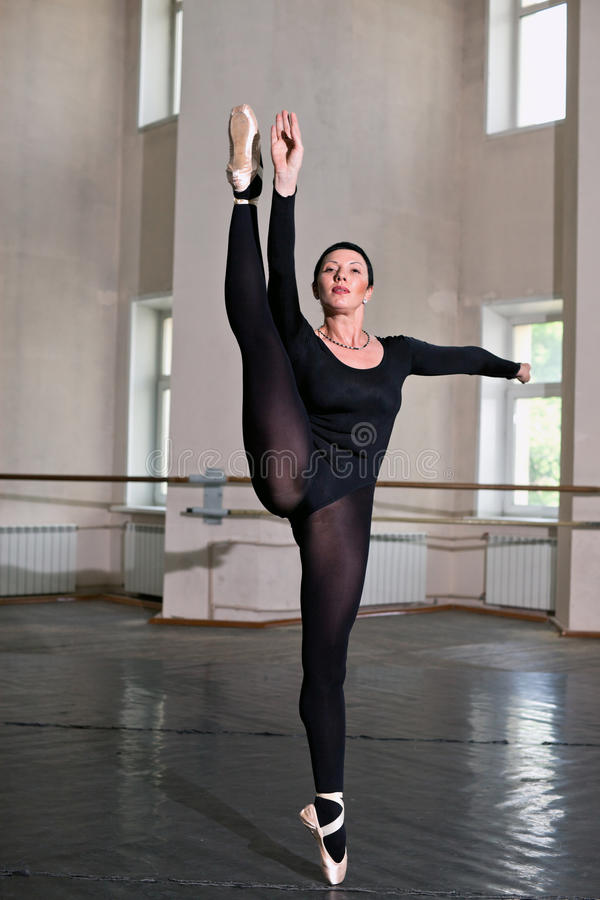 Training ballerina royalty free stock photography