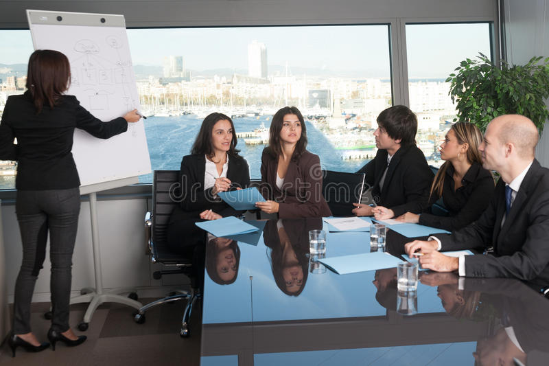 Training in board room royalty free stock photography