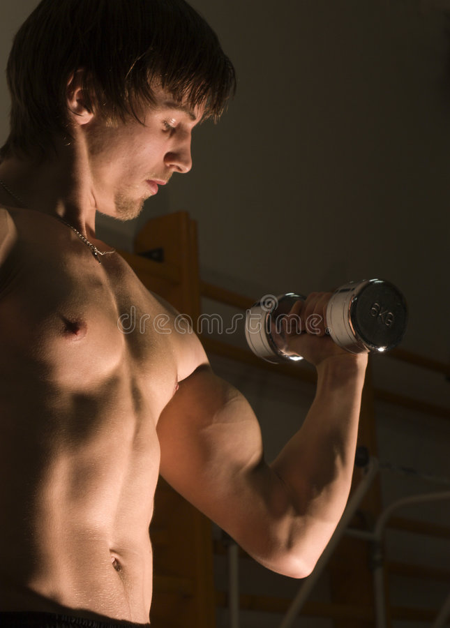 Training Of The Bodybuilder Royalty Free Stock Images