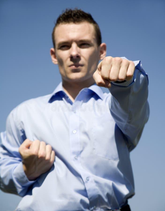 Training of businessman royalty free stock photo