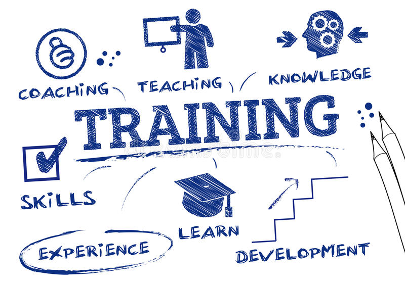 Training, coaching stock illustration