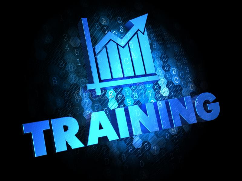 Training Concept on Digital Background. stock photo