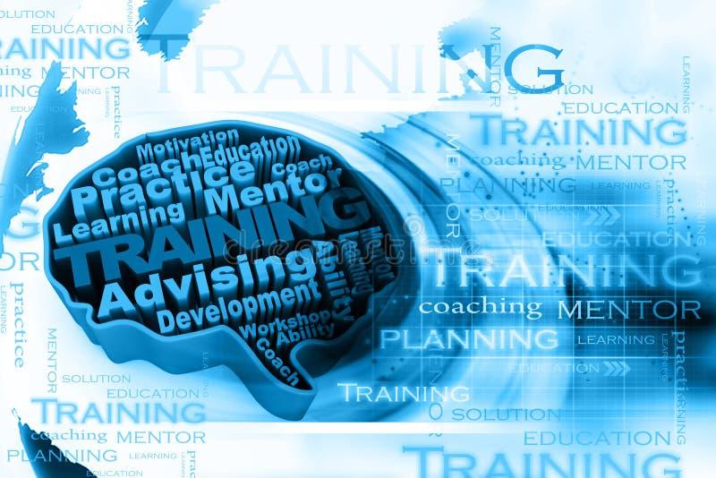 Training concept. Digital illustration of Training concept vector illustration
