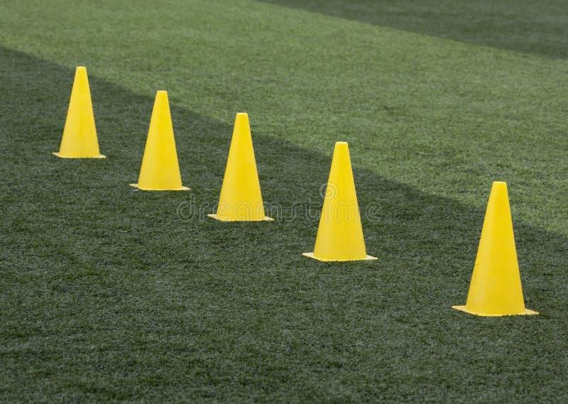 Training cones royalty free stock image