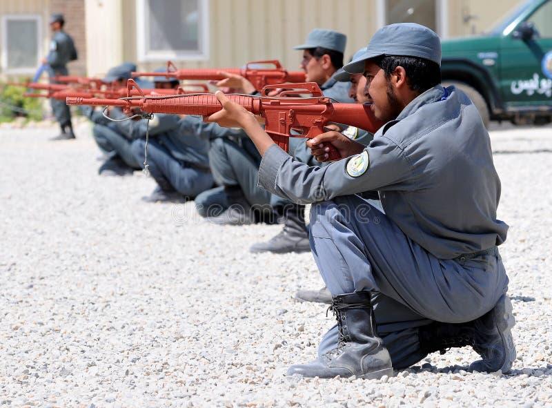 Training der afghanischen Polizisten lizenzfreies stockfoto
