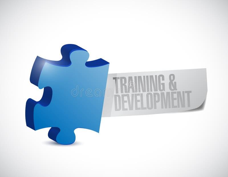 Training and development puzzle illustration royalty free illustration