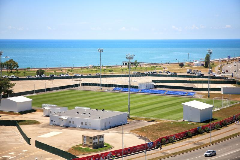 Training field of the FIFA World Cup 2018 royalty free stock image