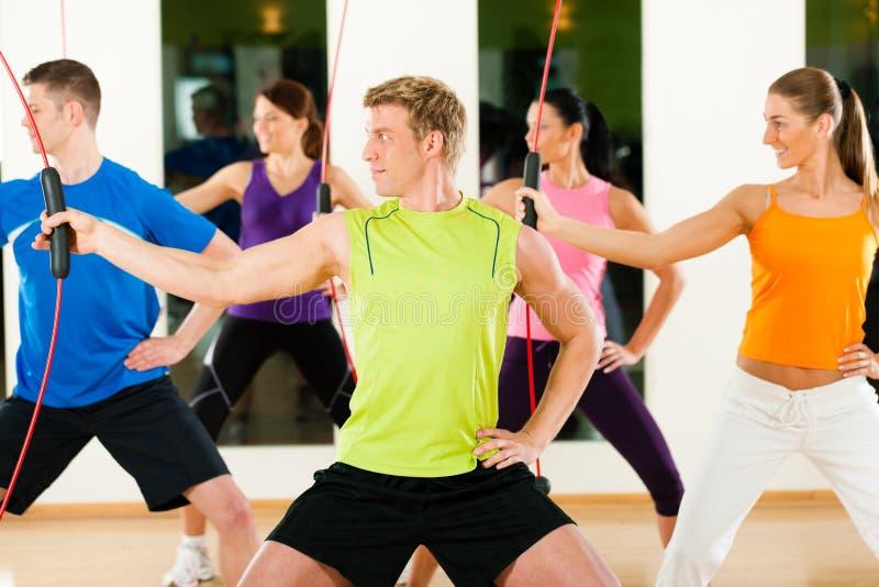 Training With Flexi Bar Stock Image
