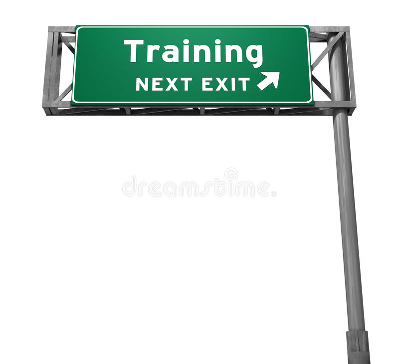 Free Training - Freeway Exit Sign Stock Photo - 16136550