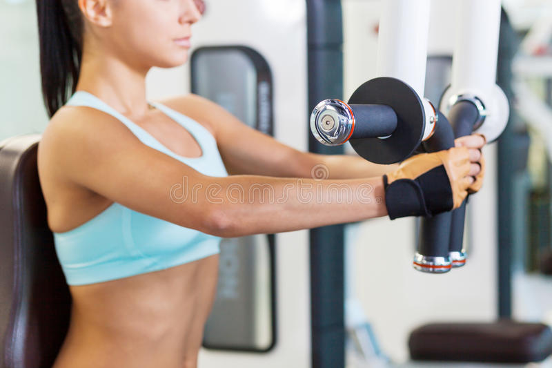 Training in gym. stock photos