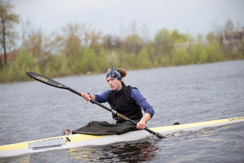 Training im Rudersport stockbild