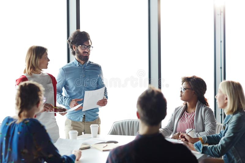 Training for managers stock photography
