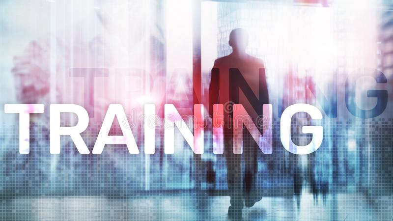 Training. Personal development. Business and education, E-Learning concept vector illustration