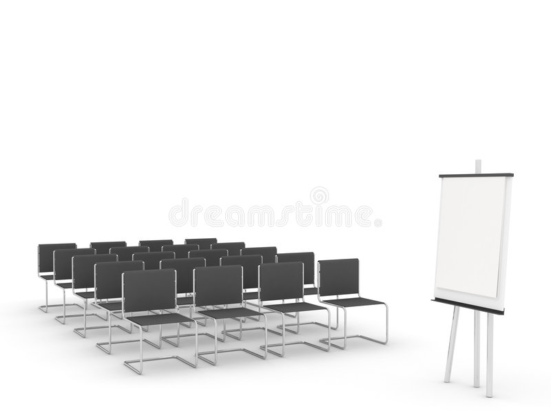 Training room vector illustration