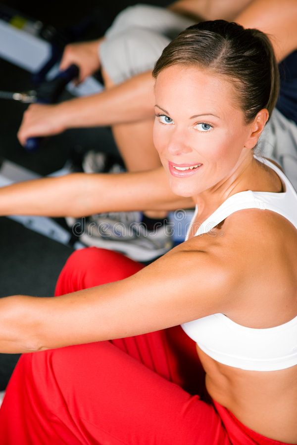 Download Training With Rowing Machine Stock Image - Image: 6148793