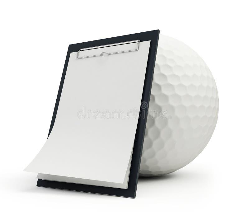 Download Training schedule golf stock illustration. Image of award - 14858173