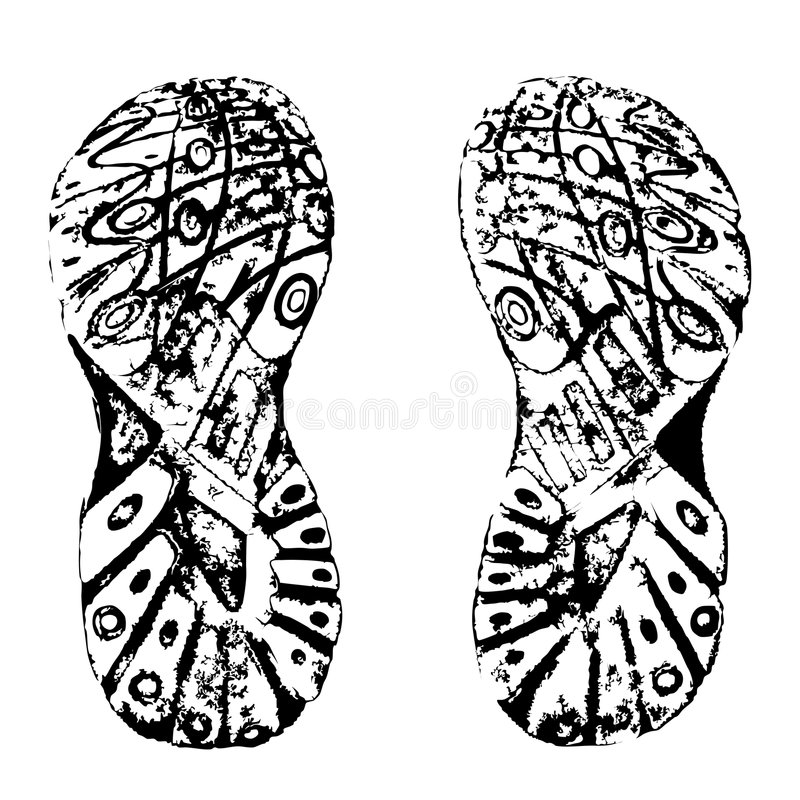Download Training shoes prints stock vector. Image of silhouette - 7308513