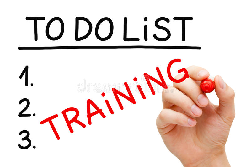 Training To Do List Concept stock photography