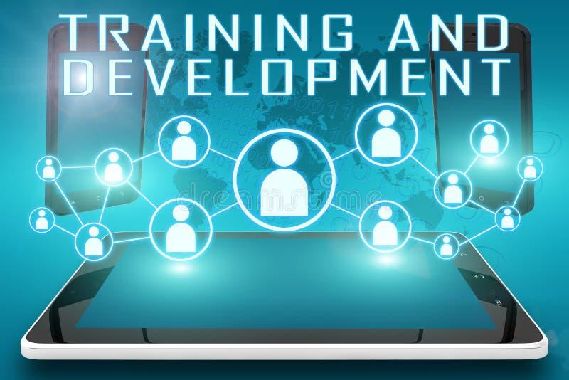 Training und Entwicklung stock abbildung