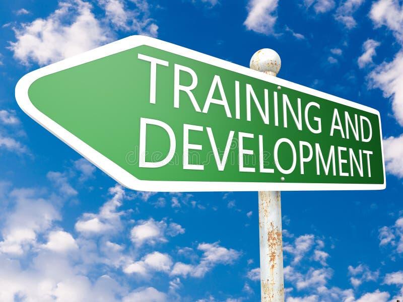 Training und Entwicklung lizenzfreies stockbild