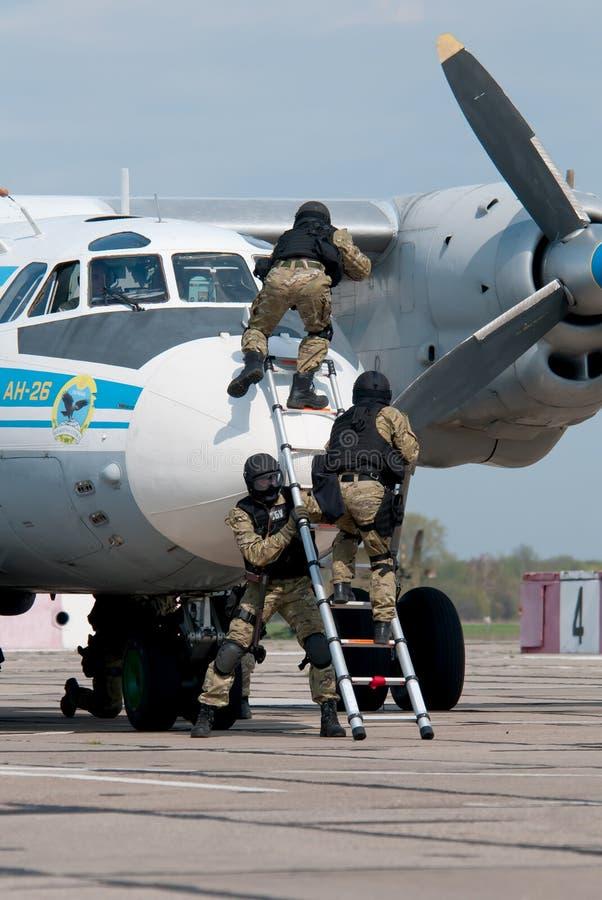 Training von Anti-Terror-Einheiten stockbild