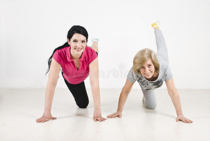 Download Training Women With Legs Up Stock Photo - Image: 14034818