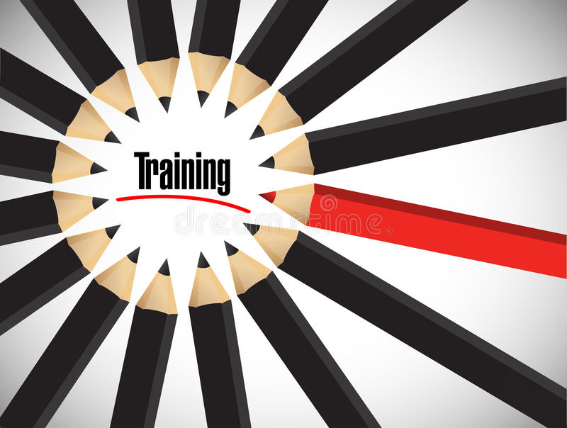 Download Training Word Around A Set Of Colors Stock Image - Image: 33706415