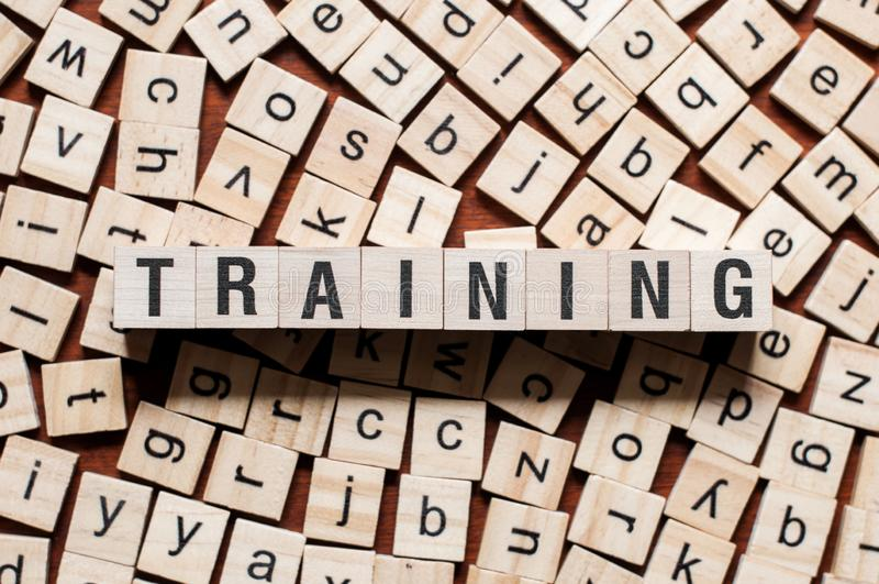 Training word concept royalty free stock photos