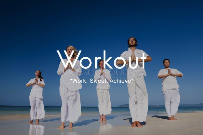 Trainings-Übungs-körperliche Tätigkeit, die Herz Konzept ausbildet stockbild