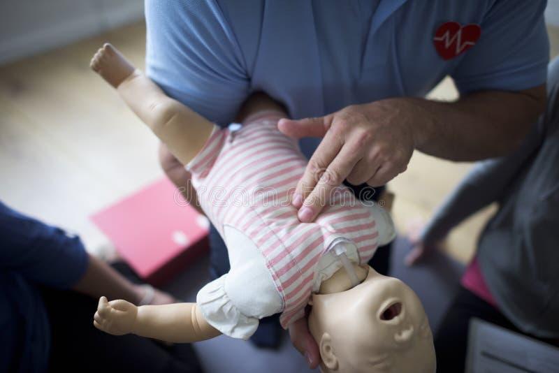 Trainings-Konzept CPR-erster Hilfe lizenzfreie stockfotos